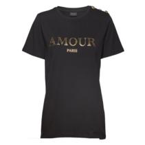 Zwart t-shirt Amour
