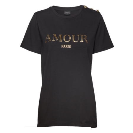 Freequent Zwart t-shirt Amour