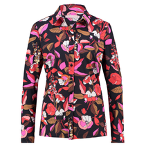 Geprinte blouse Poppy Flower