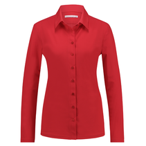 Rode blouse Poppy