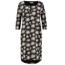 L.O.E.S Zwart geprinte jurk Mimosa