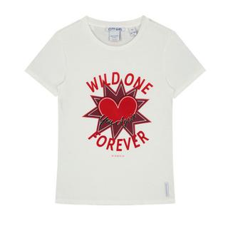 Wit t-shirt Wild One