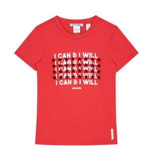 Rood t-shirt Can And Will