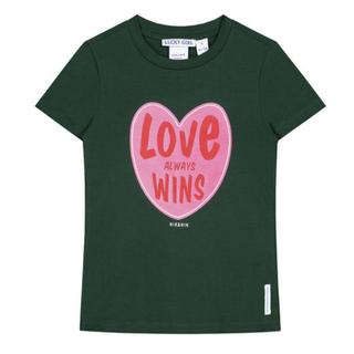 Groen t-shirt Love Wins