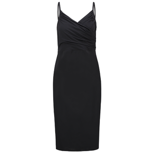 Zwarte jurk Rebecca Wrap
