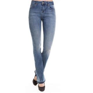 Blauwe flare jeans Leona