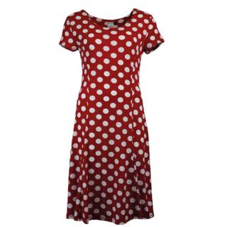 Rode Nop jurk Aster