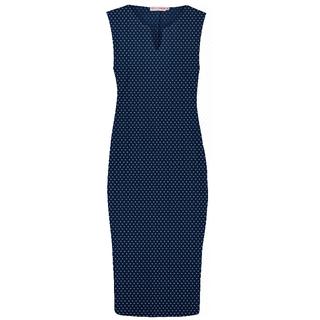 Donkerblauwe dot jurk Simplicity SL