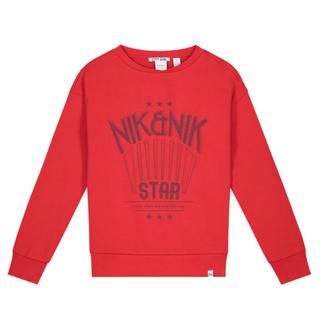 Rode sweater Nik Star