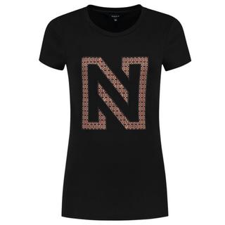 Zwart t-shirt N printed Logo