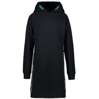 Zwarte hoodie jurk Juline