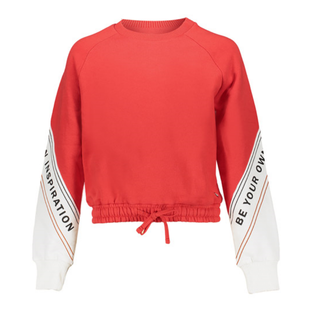 Rood met witte sweater Lize