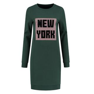 Groene sweatjurk New York