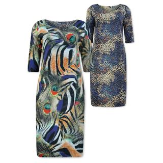 Peacock reversibel jurk Cela