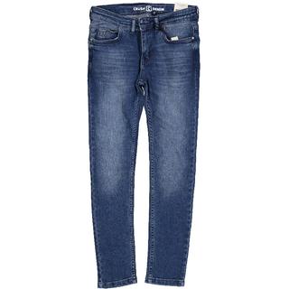 Donkerblauwe jeans Crasher