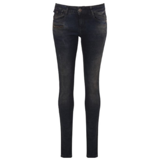 Donkerblauwe jeans Mia