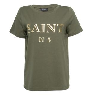 Groen geprint t-shirt Saint