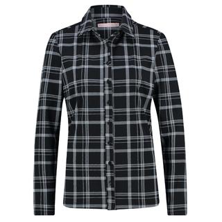 Zwart grijs geblokt shirt Poppy Check
