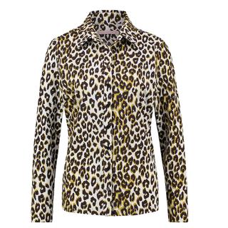 Wit gele blouse Poppy Leopard