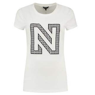 Wit t-shirt N Printed Logo