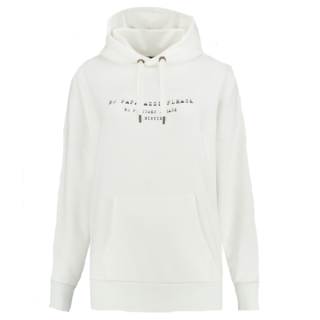 Witte hoodie No Paparazzi
