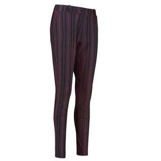 Zwart geprinte trouser Flo Stripe