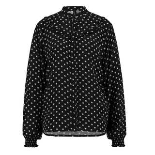 Zwarte blouse Dotted Daisy