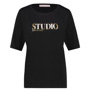 Zwart geprint t-shirt Alize