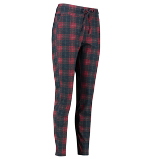 Rood geprinte check trousers Road