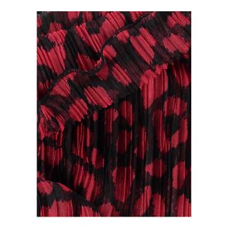 Rood geprinte sjaal Plissee