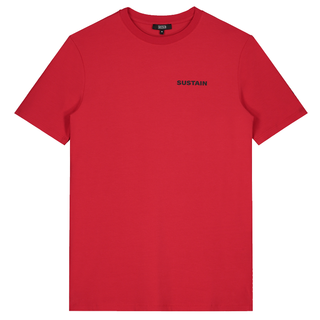 Rood regular t-shirt Logo