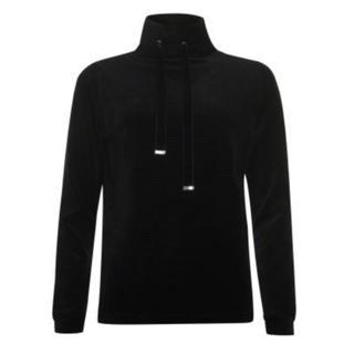 Zwarte ribvelvet sweater 933272