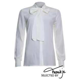 Witte bow blouse 933180