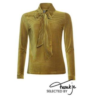 Gele sjaal blouse 933278