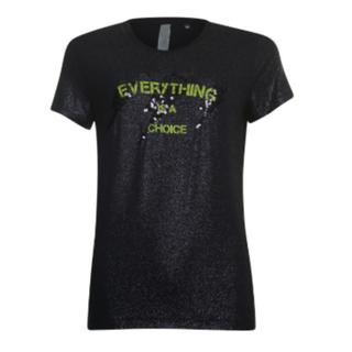 Zwart shiny t-shirt 933113