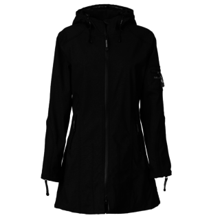 Zwarte jas Rain07