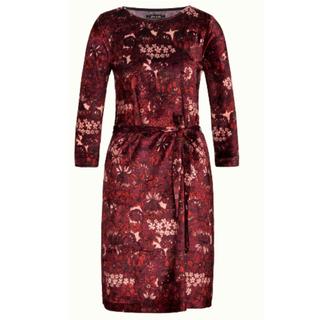 Rood geprinte jurk Zoe Crimson