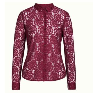 Rood geprinte blouse Rosie Damask