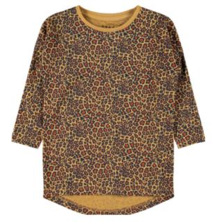 Bruin geprinte jurk Villow