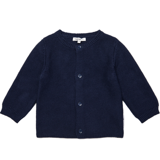 Donkerblauw knit vest Jos