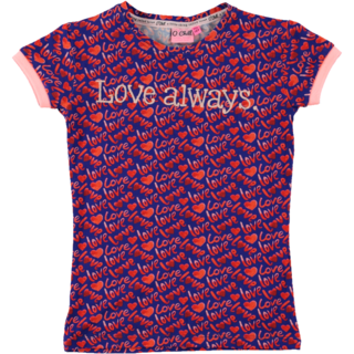 Blauw geprint t-shirt Izzy