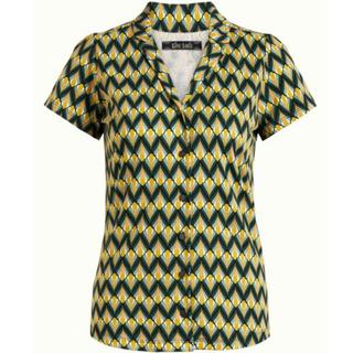 Groen geprinte blouse Patty Namaste