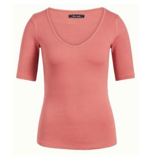 Roze top Carice Rib