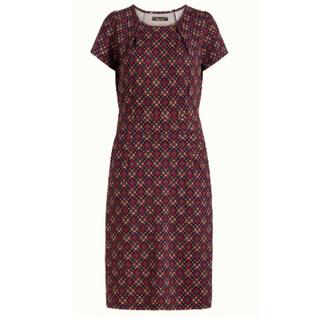 Rood geprinte jurk Mona Lisboa