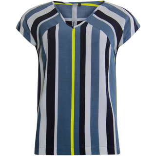Blauwe blouse Striped