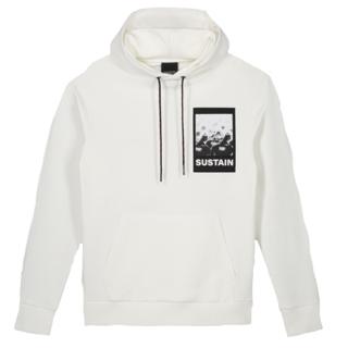 Witte hoodie Scribble