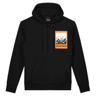 Zwarte hoodie Scribble