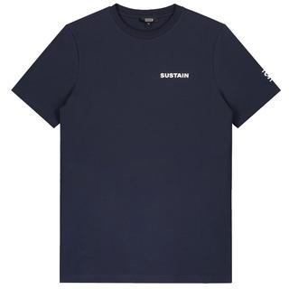 Donkerblauw t-shirt Logo