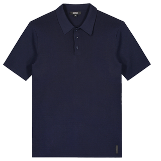 Donkerblauwe polo Knit