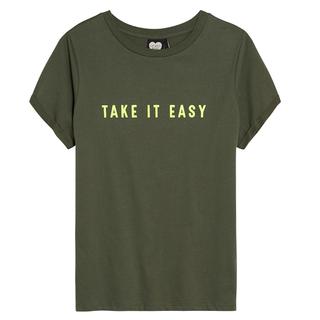 Groen t-shirt Take It Easy